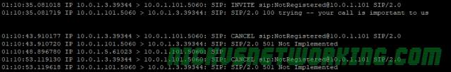 SIP Cancel / Not Registered