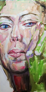 Transformation 4 Work in Progress, oil painting by Nick Ward
