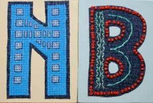 images of the initials N and B