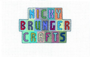 an image of the cross stitch logo for Nicky Brunger Crafts