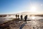 Members of Vacationer & Blouse enjoy the Geysir Spray