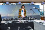DJ Harvey spinning the sunset set on the S.S. Coachella