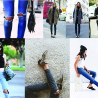 STYLE: Throwback Thursday Busted Knee Denim