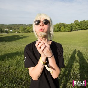 Mija (Amber Giles) backstage portraits at the Girls & Boys stage at Mysteryland 2015