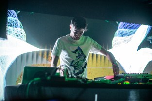Jon Hopkins performs at TOGETHER X Resident Advisor Central Stage at The Middle East on May 20, 2016