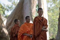 Monks at Angkor Thom, near the East Gate, 2015