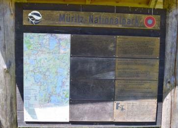 Schautafel und Karte am Umladeplatz