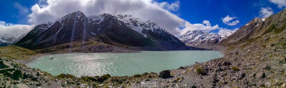Guide Hooker Valley Track - Hooker lake view point - Photo by Nico Babot
