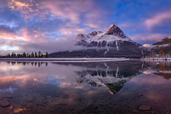 sunrise on Ha Ling Peak in Canmore Canada photo by Nico Babot