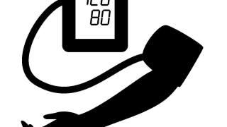 血圧を測る腕