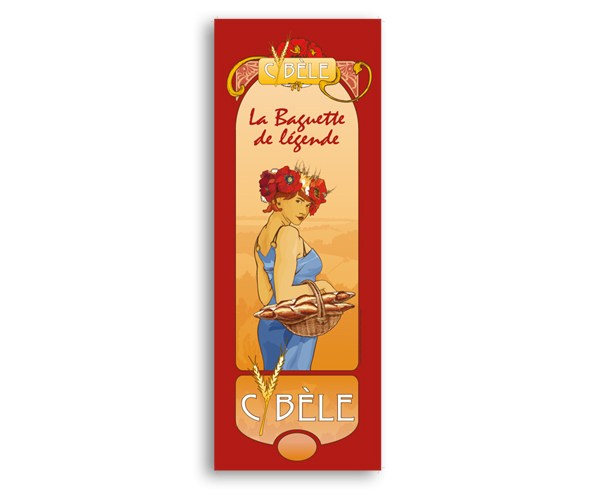 Affiche de promotion de la marque Cybèle