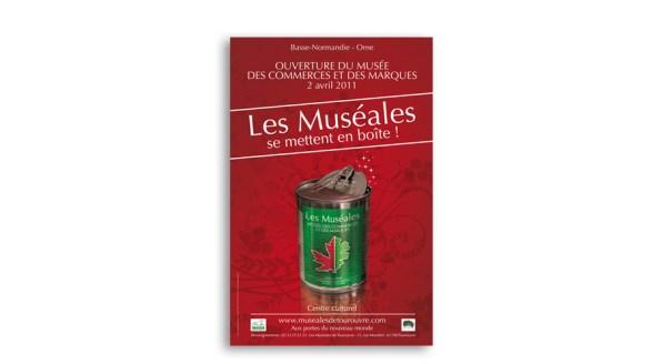 Affiche d'ouverture du Musée des Commerces et des Marques de Tourouvre
