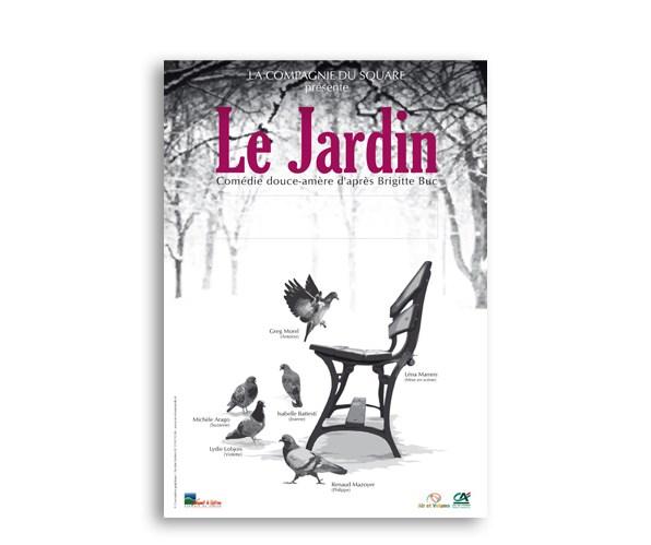 """Affiche, pièce de théâtre """"Le Jardin"""", compagnie du Square"""