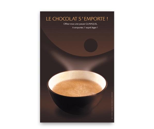 """Affiche produit, Le chocolat de """"La Maison du Chocolat"""""""