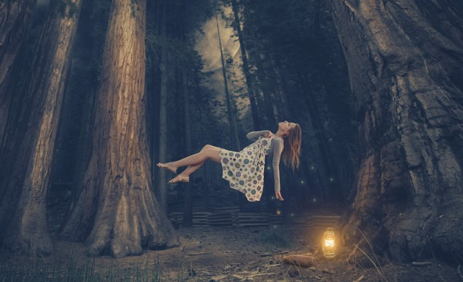 Image: Floating Woman in Forest