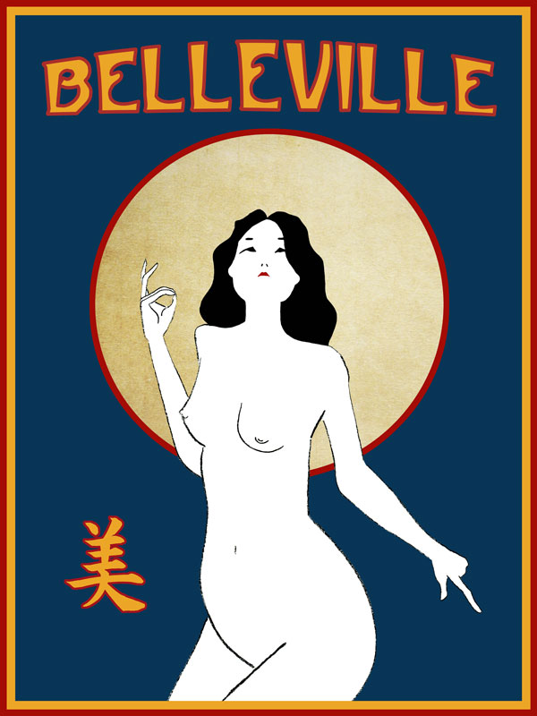illustration paris belleville china girl beauty judgment blessing art nouveau