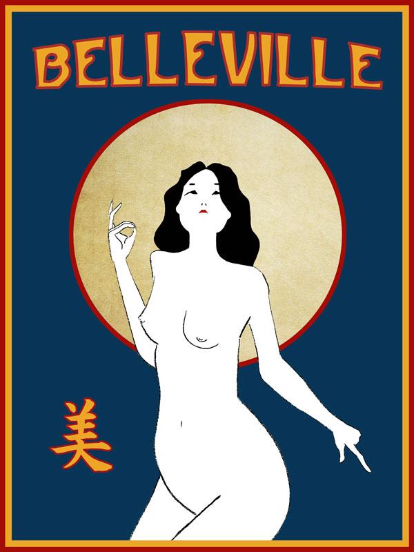 illustration paris belleville china girl beauty judgment blessing art nouveau