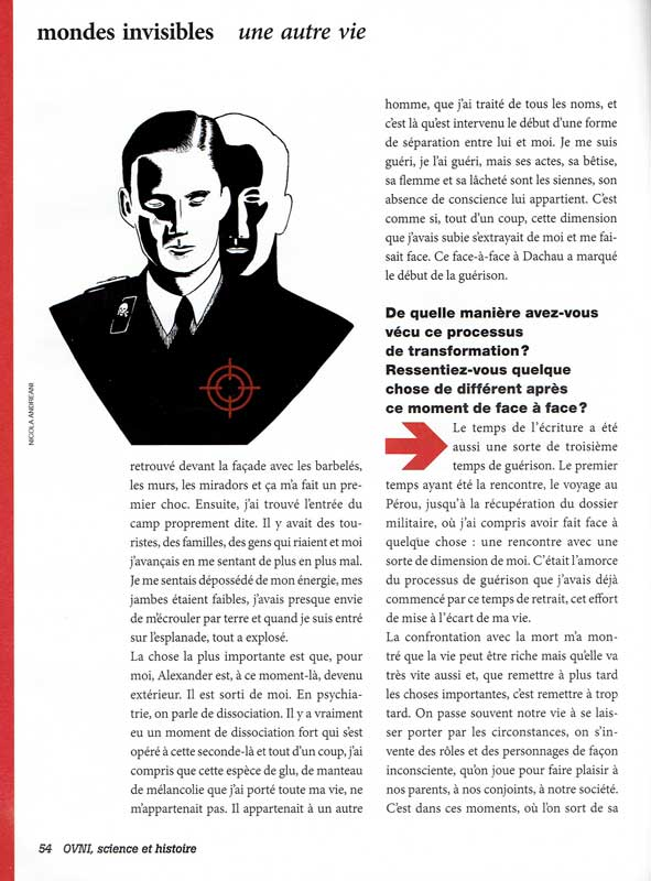 illustration stephane allix dreams Alexander Hermann second world war life after death in black and white nazis published publishing edition