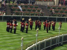 The band playing before the Queen arrived