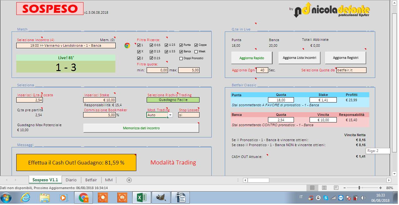 software scommesse calcio