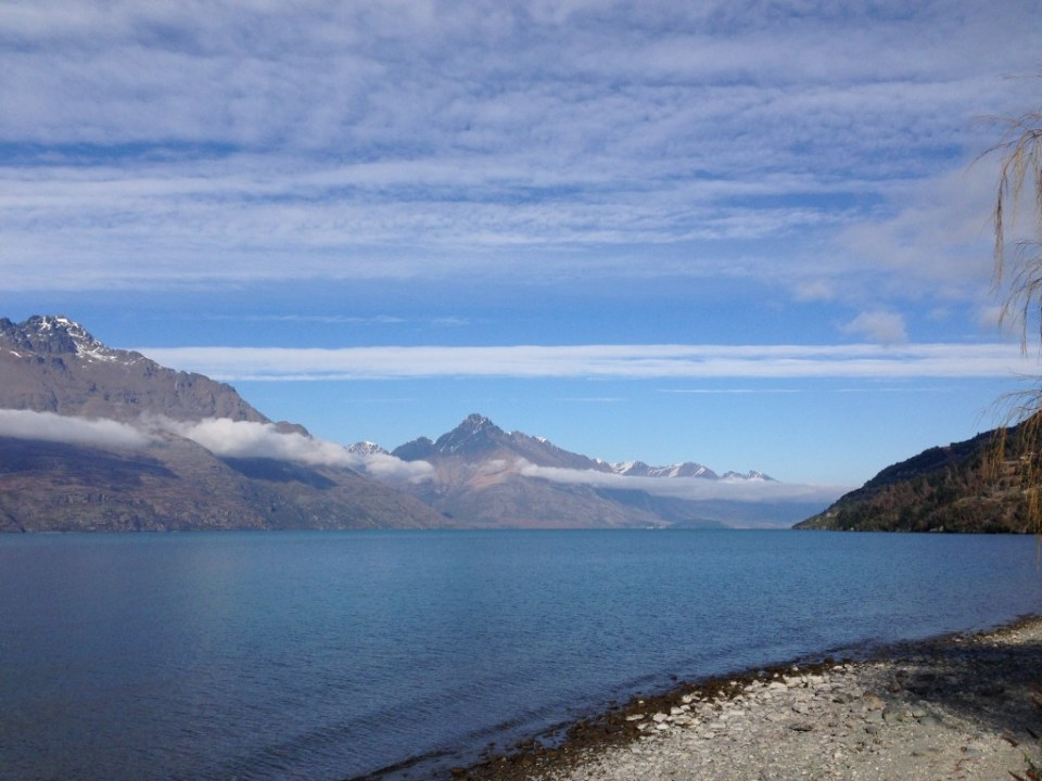 The walk along Lake Wakatipu from YHA Lakefront in Queenstown