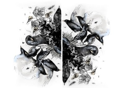 WNV Crows Diptych