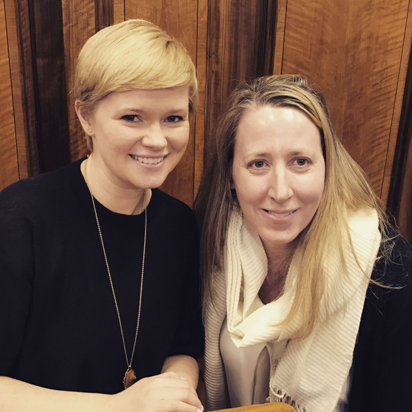 Cecelia Ahern with Nicola (whose hair is styled by an earlier downpour - thanks weather)