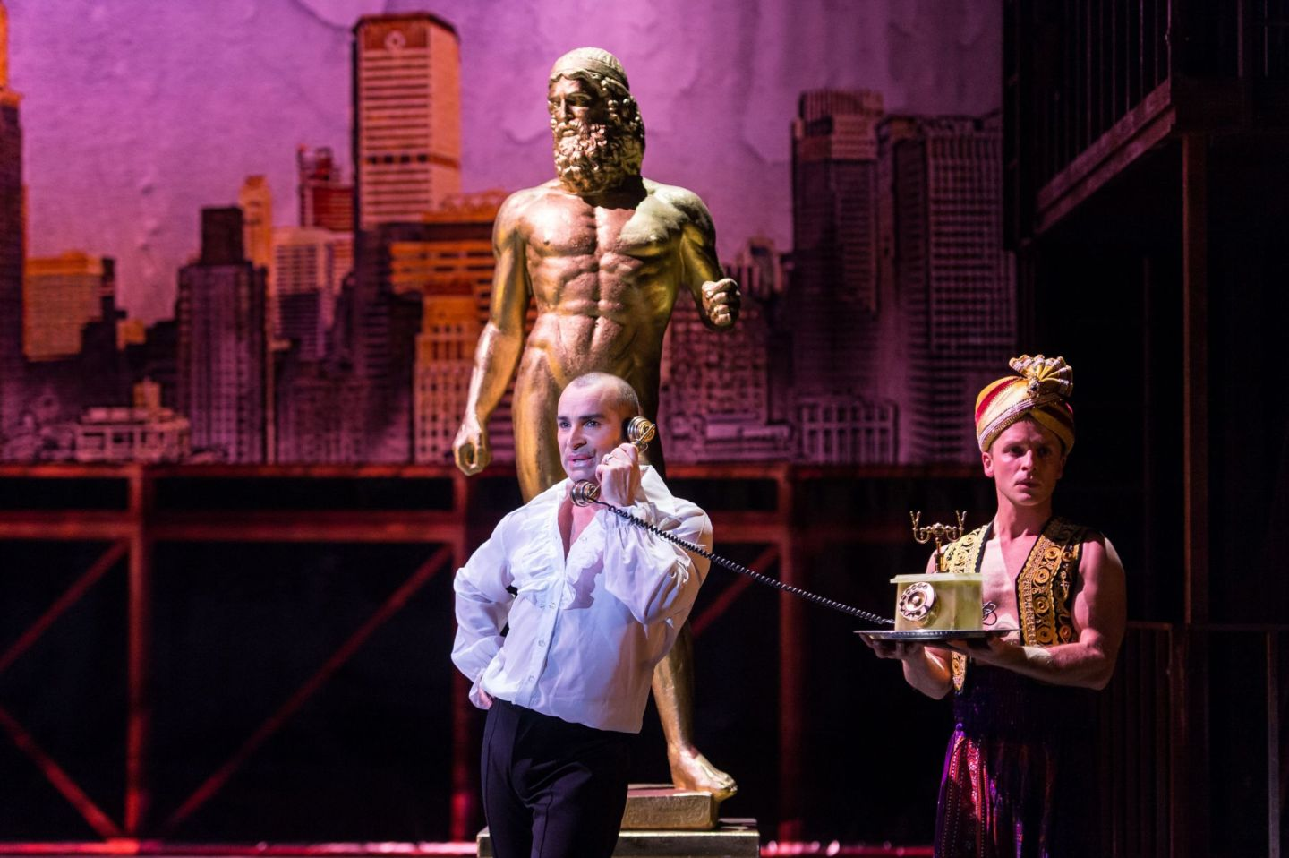 Louie Spence in  The Producers, production image supplied and under copyright.