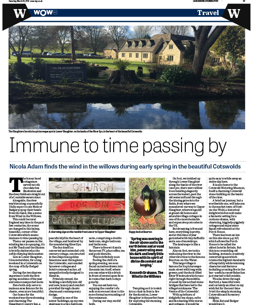 How the review appeared in the Lancashire Evening Post