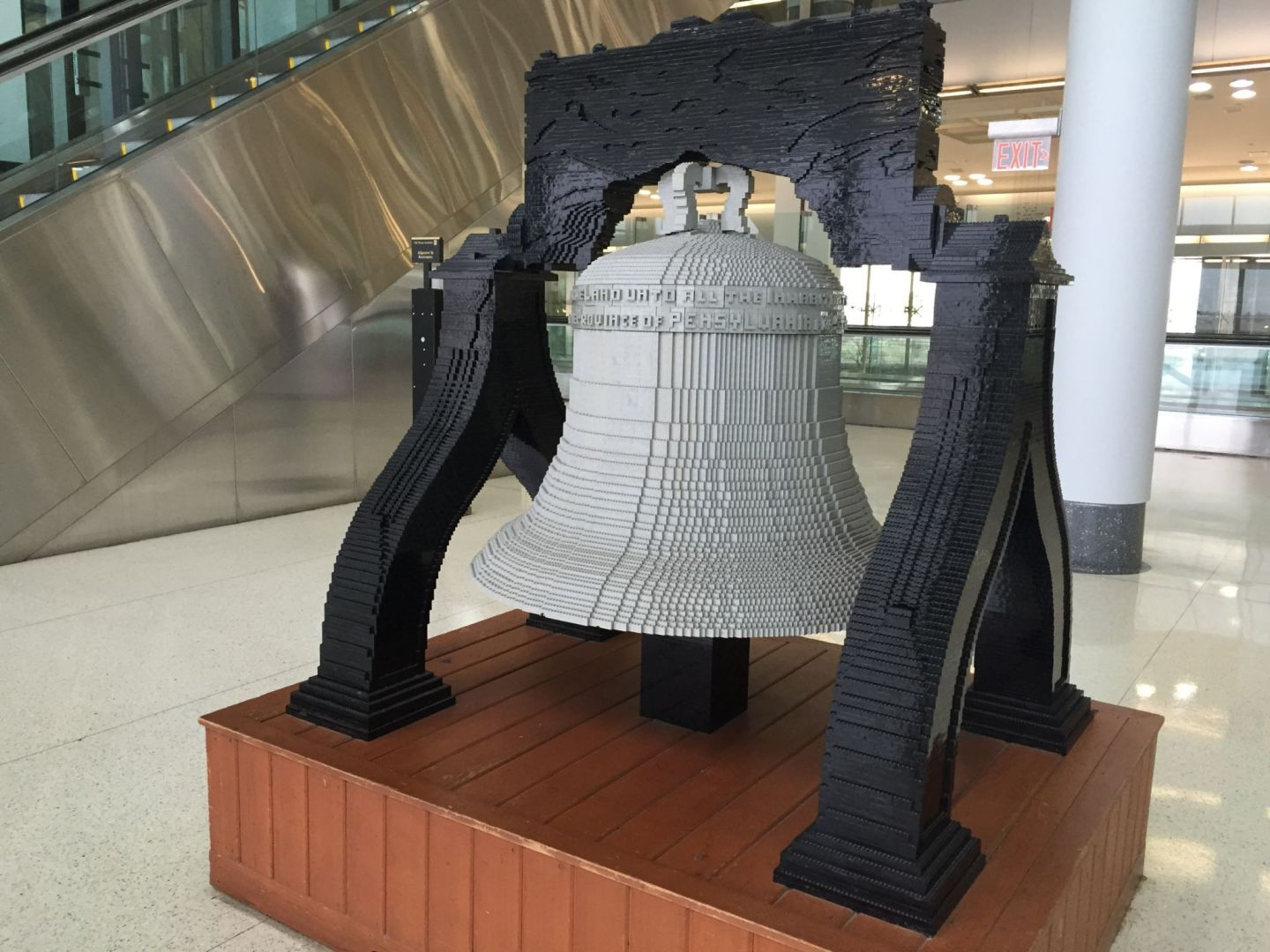 Yes, that is a Liberty Bell made out of Lego. Pic at Philadelphiaairport by @jabberingjourno