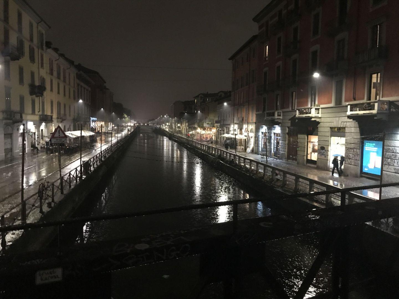 Navigli canal system, partyly designed by Leonardo da Vinci