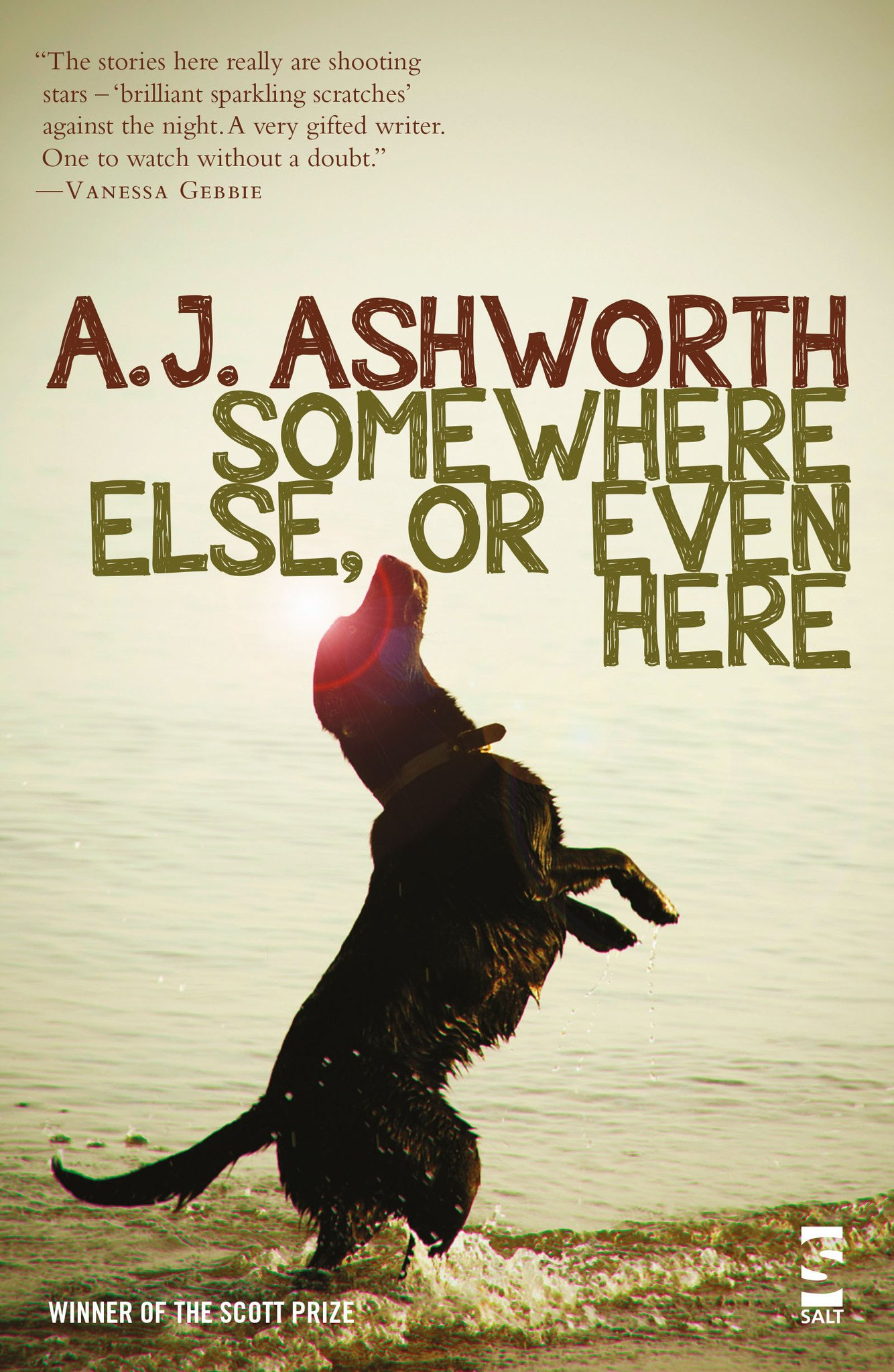 A.J.Ashworth - Somewhere else or even here book cover