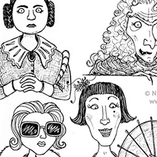 Pen and Ink Character Illustrations © Nicola L Robinson