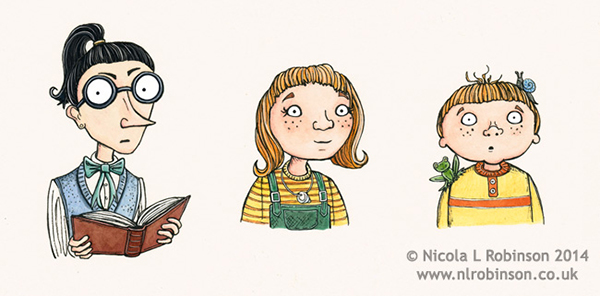 Character illustrations childrens book © Nicola L Robinson. All rights reserved www.nlrobinson.co.uk