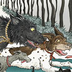 Winter Dogs Illustration © Nicola L Robinson