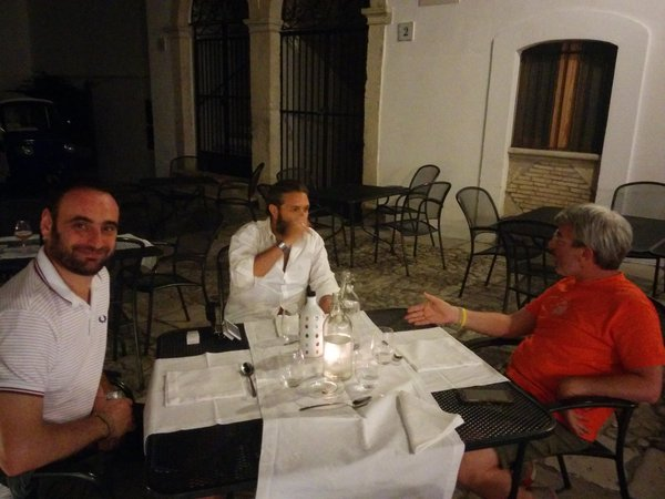 Francesco Di Candia and some attendees at the after-party