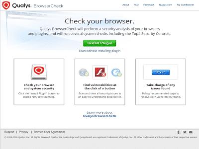 Téléchargez Qualys BrowserCheck (Gratuit)
