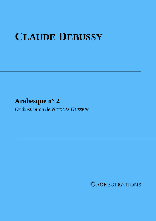 Couverture partition Arabesque 2 de Debussy