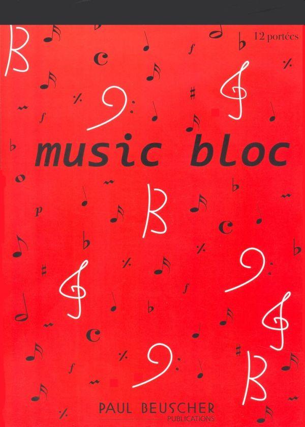 Music bloc Paul Beuscher 12 portées