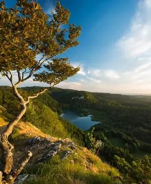 Vue du lac de Bonlieu