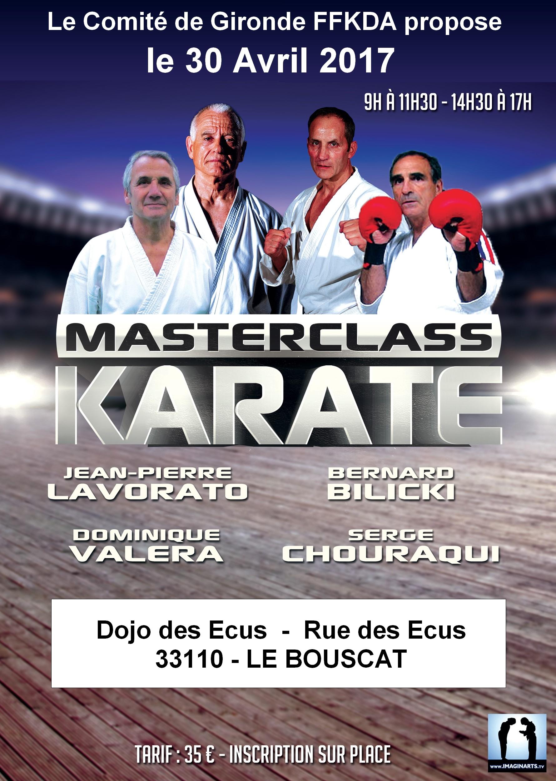 Masterclass Karaté 2017