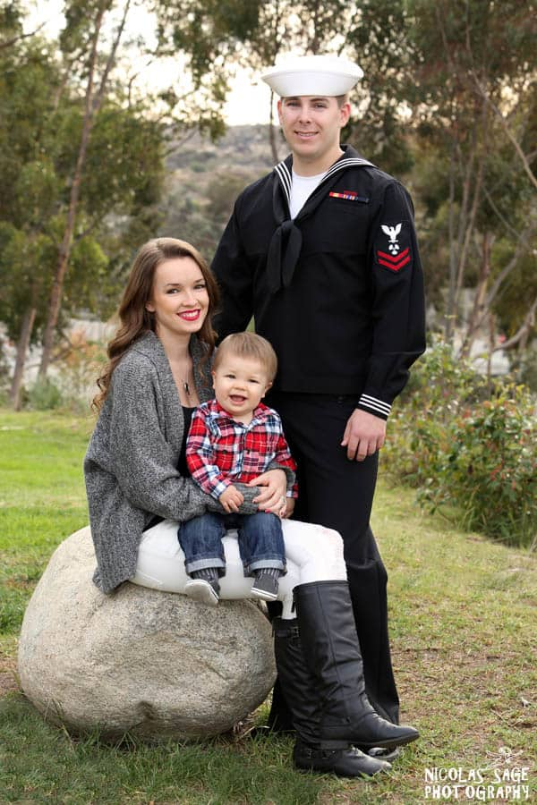 military family portrait in a park in Los Angeles