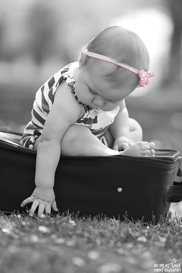 creative black and white baby photography