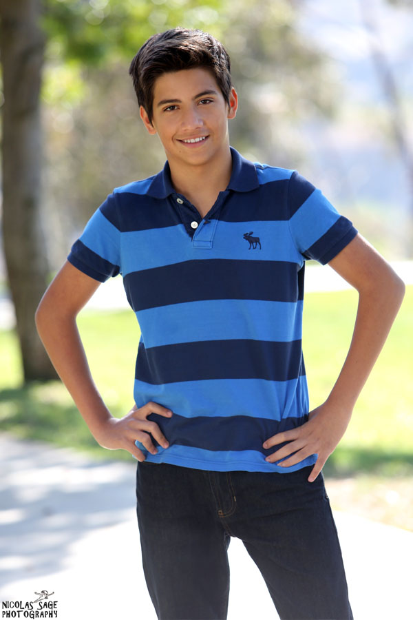 teen boy modeling portfolio picture in Los Angeles