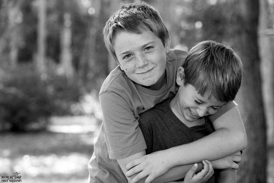 black and white photography children