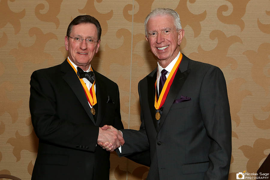 Calvin Knowlton and Dennis Helling at Apha conference Remington Medal Honor