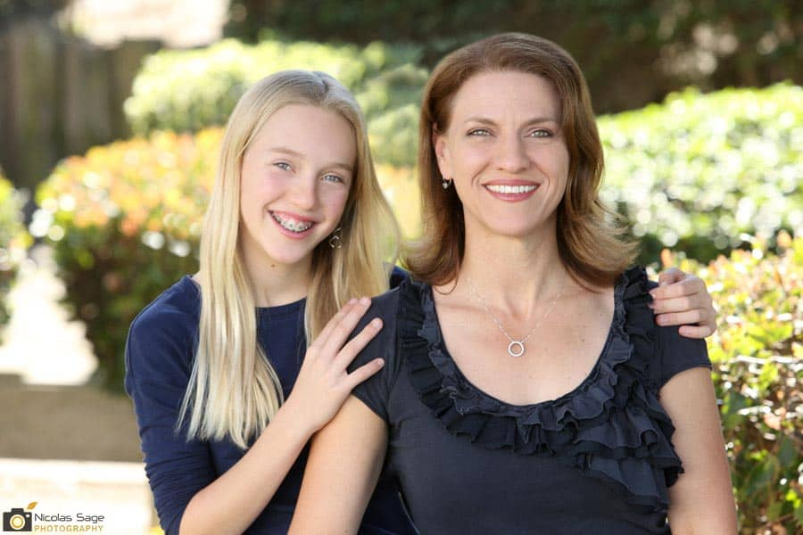 mother and daughter outdoor portrait
