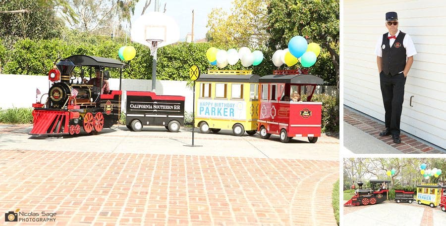 train theme kids birthday jolly express family train