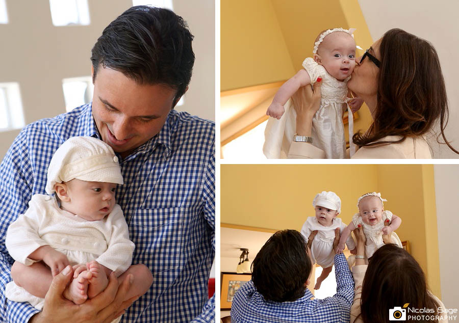 Los Angeles family photographer twin baby photos