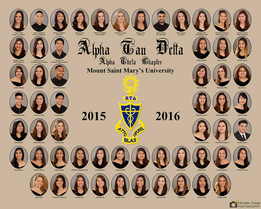 Sorority Fraternity Composite Photography in Los Angeles